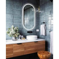 Зеркало в ванную с LED подсветкой Натали 135х45 см